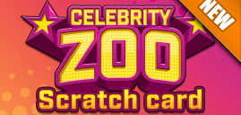 CELEBRITY ZOO SCRATCH CARD